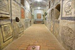 Bratislava - cripta debajo de la capilla de St Ann en la catedral de San Martín. Fotos de archivo libres de regalías