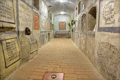 Bratislava - Crypt under st. Ann chapel in  st. Martin cathedral. Royalty Free Stock Photos