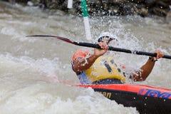 Bratislava - Cunovo, Slovacchia - Th 2010 dei 13-15 agosto: Campionati europei 2010 di slalom della canoa di CCE fotografia stock libera da diritti