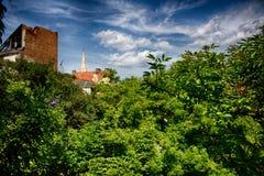 Bratislava dalla parete Immagini Stock