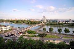 bratislava danube flod Royaltyfri Fotografi