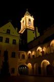 Bratislava in der Nacht stockfotografie