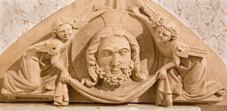 Bratislava -  Detail from st. Ann gothic side chapel - prior sotth portal of church in st. Martin cathedral. Royalty Free Stock Image