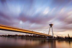 Bratislava ed il Danubio Fotografia Stock Libera da Diritti