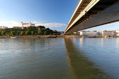 Bratislava embankment Royalty Free Stock Photos