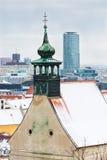 Bratislava, Eslováquia - 24 de janeiro de 2016: Vista da cidade Foto de Stock Royalty Free
