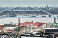 Bratislava, Eslováquia - 24 de janeiro de 2016: Vista da cidade Fotos de Stock
