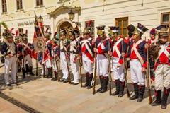 Bratislava, Eslováquia - 21 de maio de 2016: Um lembrete do cerco de N foto de stock royalty free
