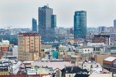 Bratislava, Eslovaquia - 24 de enero de 2016: Vista de la ciudad Imagen de archivo libre de regalías