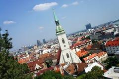 Bratislava, Eslovaquia - panorama de la ciudad Imagen de archivo libre de regalías