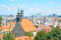 Bratislava, Eslovaquia, visión superior Imagenes de archivo