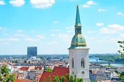 Bratislava, Eslovaquia, visión superior Imagen de archivo