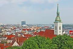 Bratislava, Eslovaquia, visión superior Fotografía de archivo