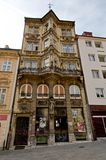 Bratislava - facade of old house Stock Photos