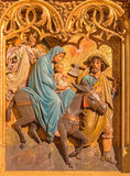 Bratislava - Flight of hl. Family to Egypt scene from cathedral Stock Image