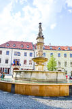 Bratislava. Fontain and museum on Bratislava square stock photography