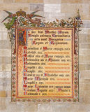 Bratislava - fresco decorativo com os nomes dos reis coroados em Bratislava entre os anos 1563 - 1830 na catedral de St Martin. Fotografia de Stock Royalty Free
