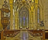 Bratislava - Główny nave st. Martin katedra od 15. centu. Obraz Royalty Free