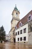 Bratislava gammalt stadshus Arkivbild