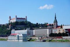Bratislava - Grenzsteine Stockbild