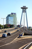 Bratislava Highway Bridge Royalty Free Stock Photos