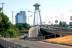 Bratislava Highway Bridge Stock Image