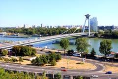 Bratislava Highway Bridge Stock Photo