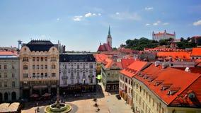 Bratislava.  Historical downtown stock video