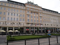 BRATISLAVA -hotel Carlton  2016 SLOVAKIA. History impressive building of the Carlton Hotel unfolds for several centuries. Thanks to its location - in the heart Stock Photo