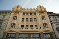 Bratislava huvudsaklig fyrkants fasad Arkivbild