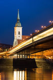 Bratislava im night2 Lizenzfreies Stockbild