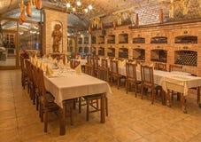 Bratislava - Interior of wine callar of Slovak producer. Royalty Free Stock Image