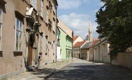 Bratislava - Kapitulska street and Klarisky gothic Stock Photo