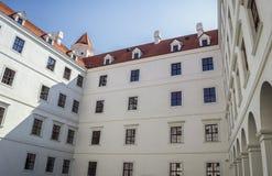 Bratislava kasztel, Sistani, wewnętrzny podwórze fotografia stock