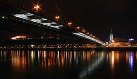Bratislava la nuit Photos stock