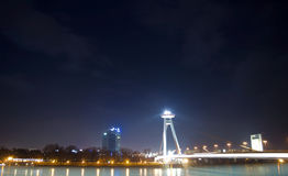 Bratislava la nuit Photo libre de droits