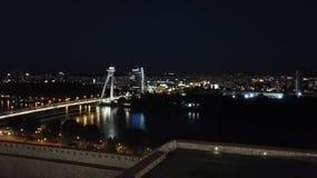 Bratislava la nuit Images stock