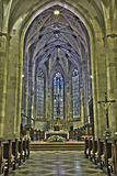 Bratislava - Main nave of st. Martin cathedral from 15. cent. Royalty Free Stock Photo