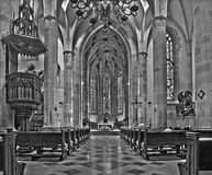 Bratislava - Main nave of st. Martin cathedral from 15. cent. Stock Image