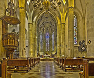Bratislava - Main nave of st. Martin cathedral from 15. cent. Royalty Free Stock Image