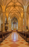 Bratislava - Main nave of st. Martin cathedral from 15. cent. Stock Photo