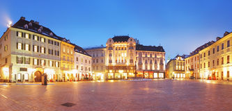 Bratislava Main Square at night Stock Images