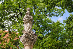 Bratislava Marian Column Franciscan fyrkant arkivfoton