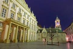 Bratislava - metropolitan palace and tow-hall Stock Images