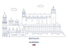 Bratislava miasta linia horyzontu, Sistani Zdjęcia Stock