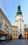 Bratislava - Michael Tower (Michalska Brana), Slovakia. Historic Royalty Free Stock Image