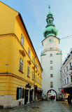 Bratislava - Michael Tower (Michalska Brana), Slovakia. Historic Royalty Free Stock Photography