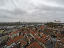 Bratislava from mid air Royalty Free Stock Images