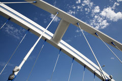 Bratislava - modern Apollo bridge Royalty Free Stock Images