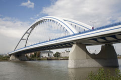 Bratislava - modern arched bridge Stock Photography